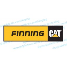 Finning Cat  Decal Emblem Logo