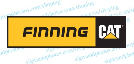Finning Cat  Decal Emblem Logo