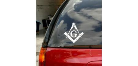 "Masonic Symbol Decal 7"" x 6.5"""
