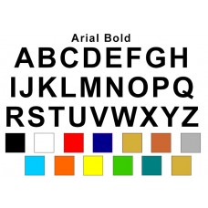 Alphabet Decal Kit (Decorative Font) - Any Color!