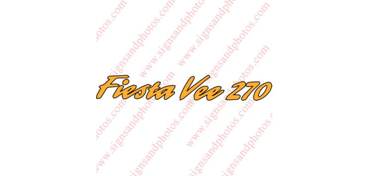"Fiesta Vee 270 Decals 36""x5"" Gold and Black (2 colors)"