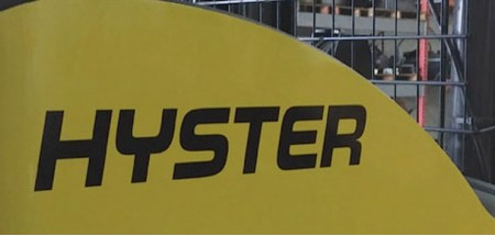 "Hyster  black  Decals 18""x3"""