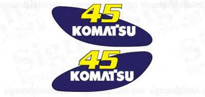 Komatsu 45 forklift Decal KIT