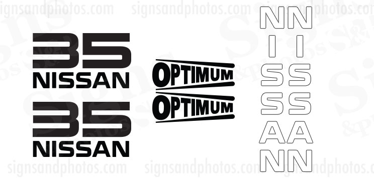 Nissan Optimum 35  Decal Kit